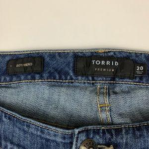 "torrid Jeans - Torrid Destroyed ""Boyfriend"" Jeans with Studs"